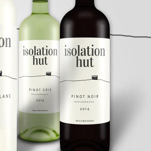 Isolation Hut wine label