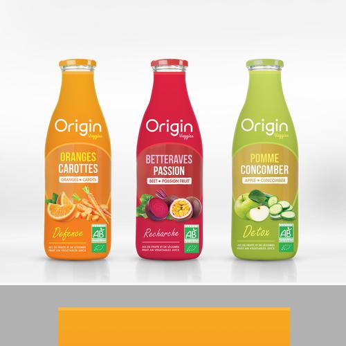 Oriign veggies, label design