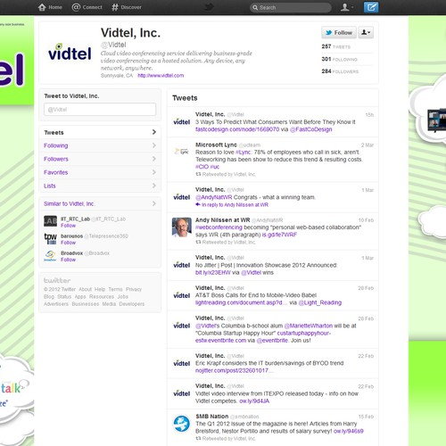 twitter background for tech company