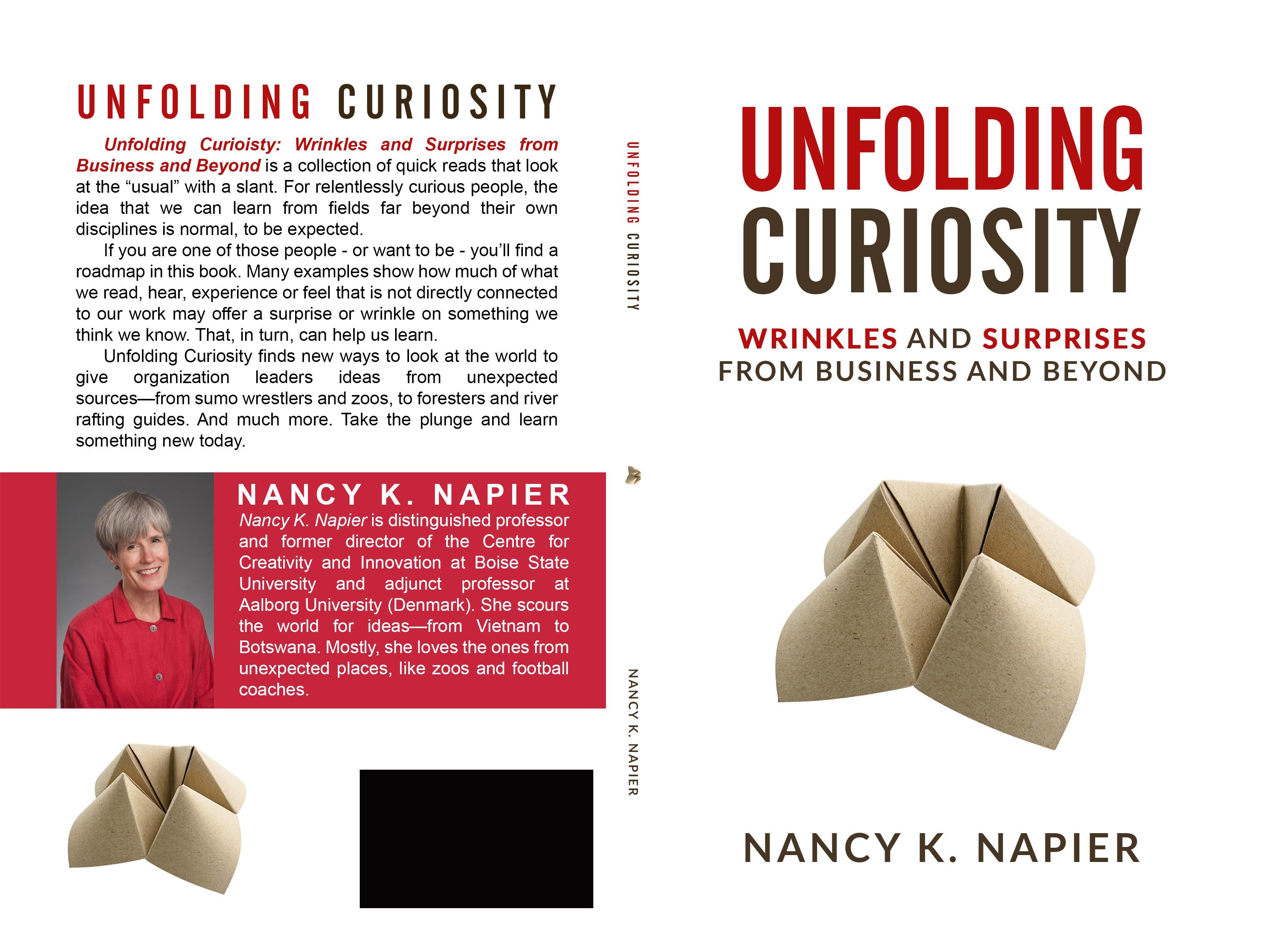 "Design a creative book cover that ""unfolds"" creativity"