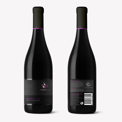 Paragon wine label.
