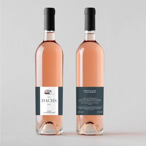 Etiketten für einen handgemachten Wein