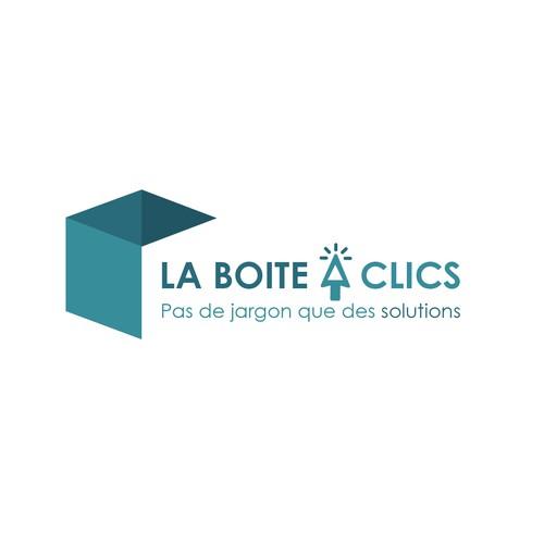 Concept logo pour La Boite A Clics