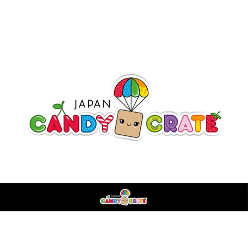 Create a whimsical and cute logo for Candy Box Japan