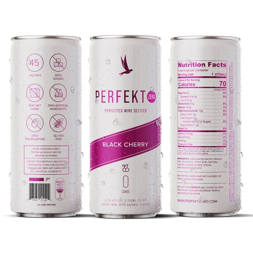 Perfekt Drink Label Design