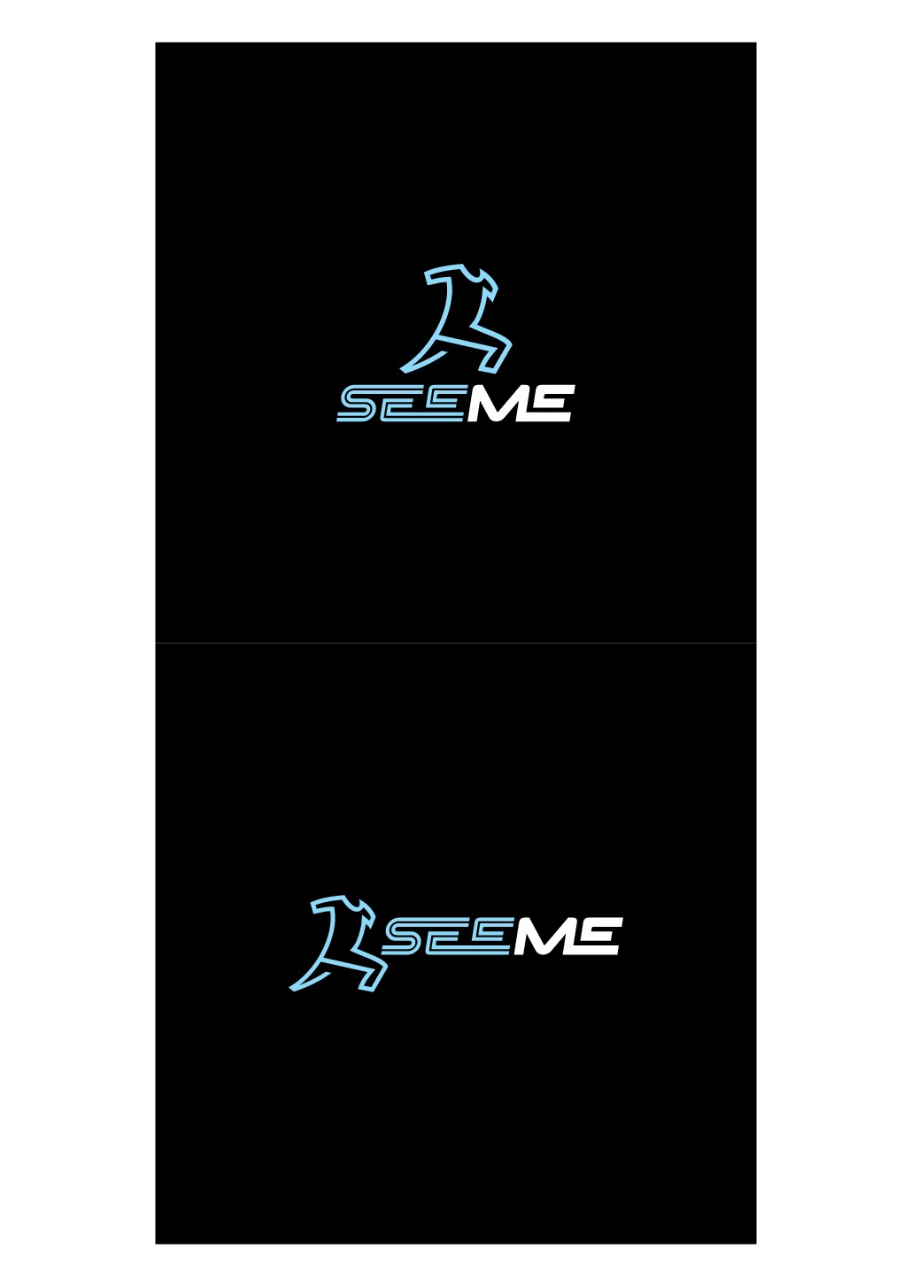 "Logo for a new sports brand ""SeeMe"" -glowing sportswear-"