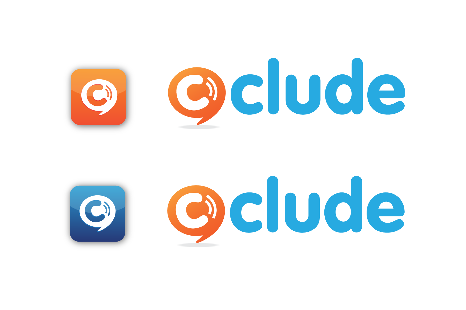 Versatile clean, sharp logo wanted for mobile app Clude