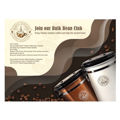coffee canister flyer