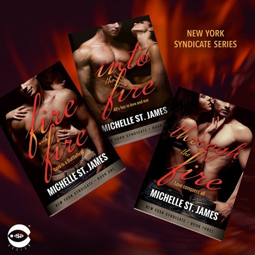"Book covers for ""New York Syndicate Series"" by Michelle St. James"