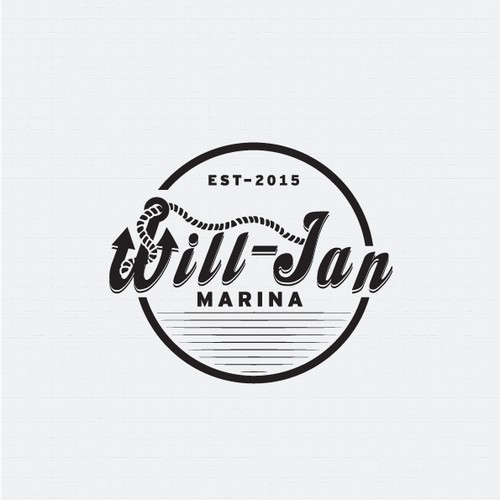 Logo design for Will-Jan Marina