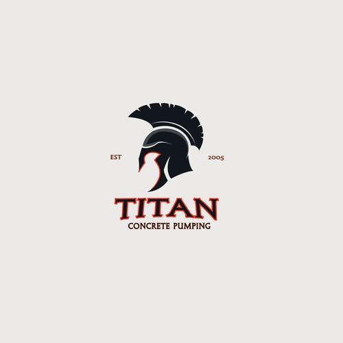 Strong spartan helmet logo for a construction company