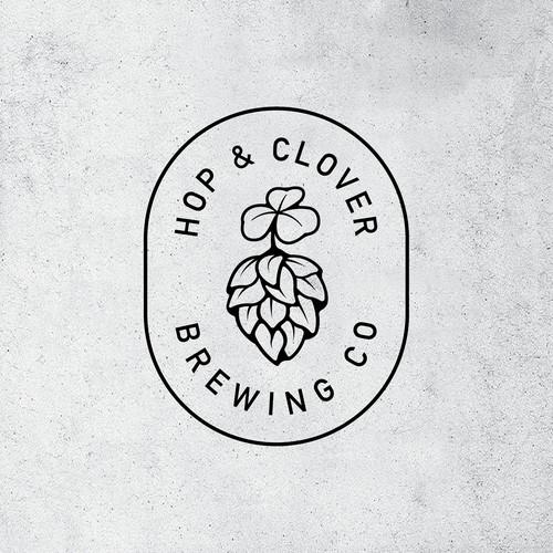 Hop & Clover brewery logo