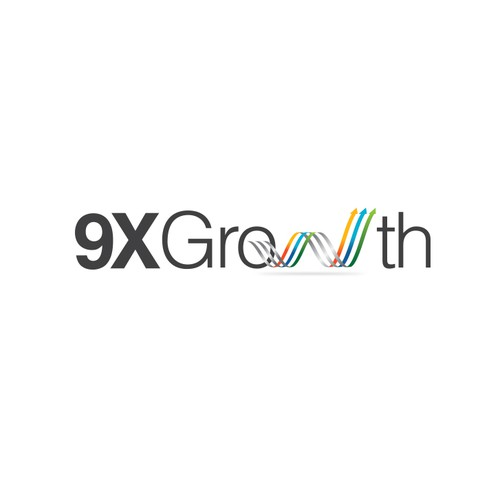Creative concept logo for 9X Growth