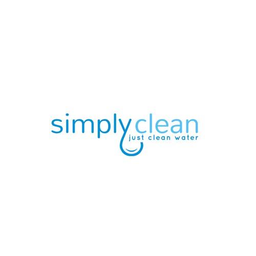 simple, modern, clean logo for simply clean