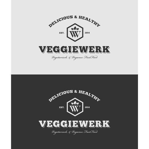 Logodesign for vegetarian Fast Food