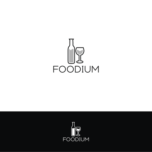 Create a logo for Foodium - a food and wine news site