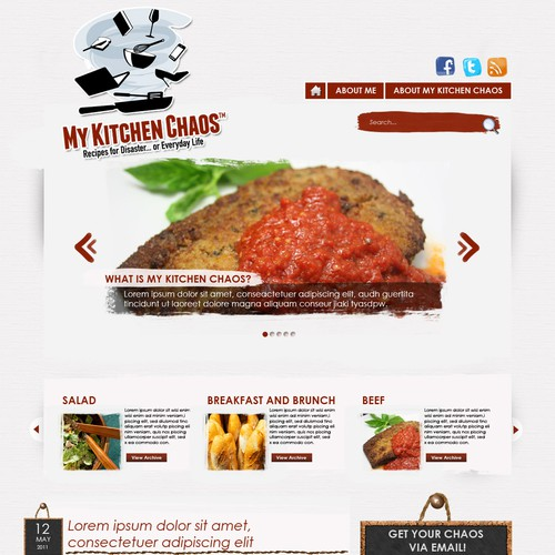 Humor Cooking Site with Publisher Interest Needs Great Design!