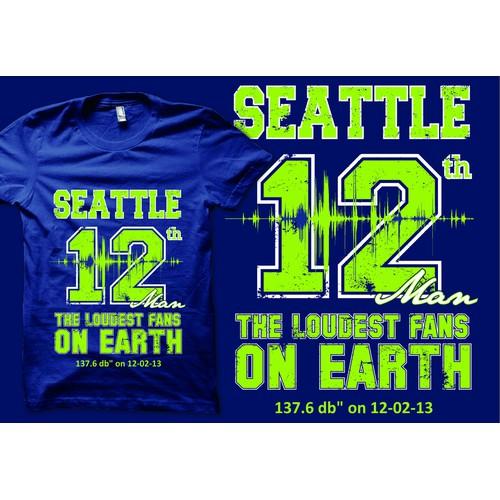 Simple but unique Tee shirt design for Seattle Seahawk fans!