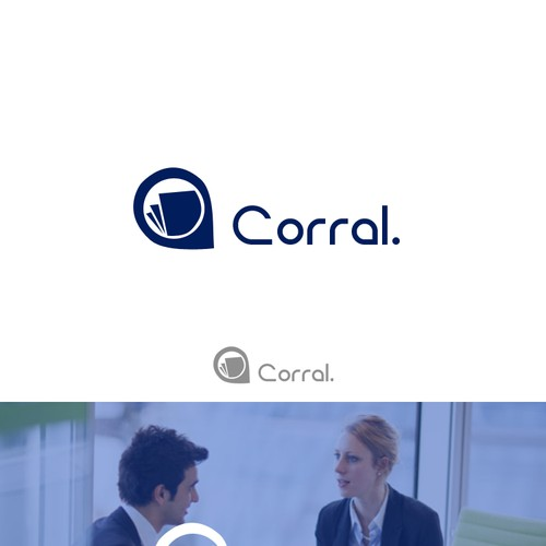 Design a simple, clean tech logo for Corral