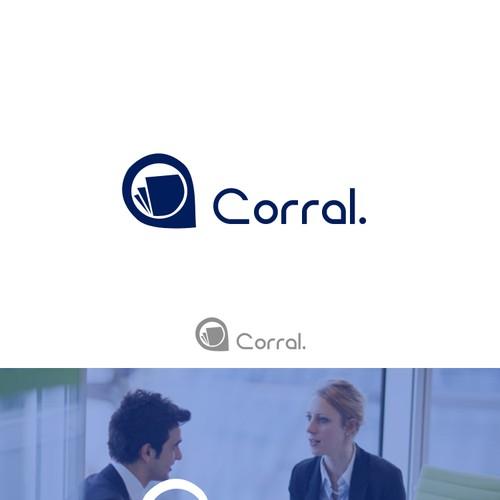 Design a simple, clean tech logo for Corral