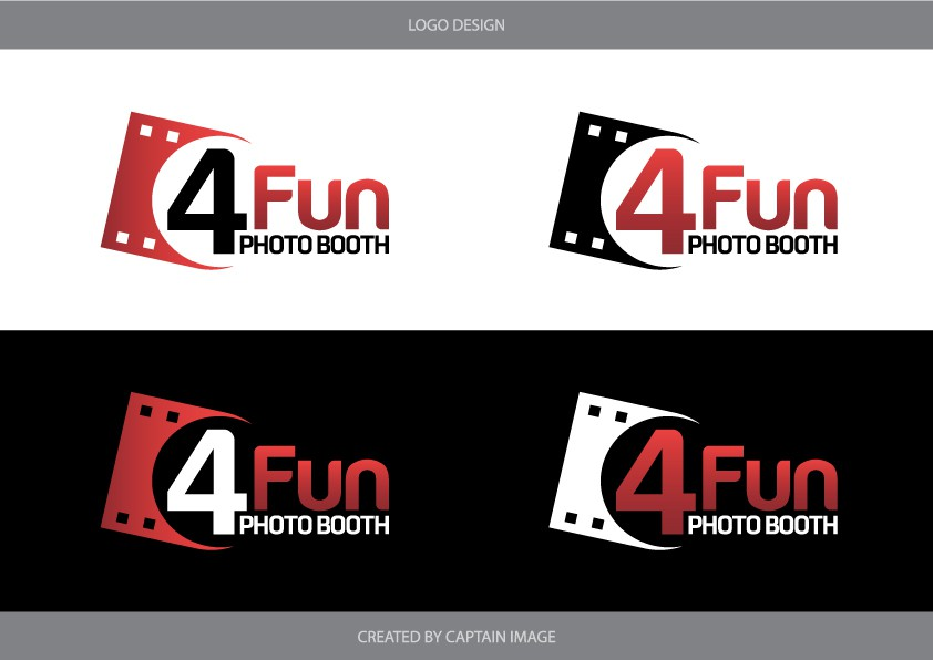 4 Fun Photo Booth, Inc. (We are open to leaving out the Inc. (Incorporated) needs a new logo
