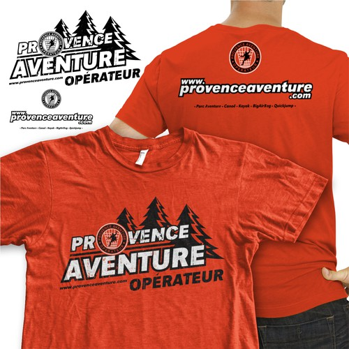 T-Shirt Design For Provence Aventure Operateur