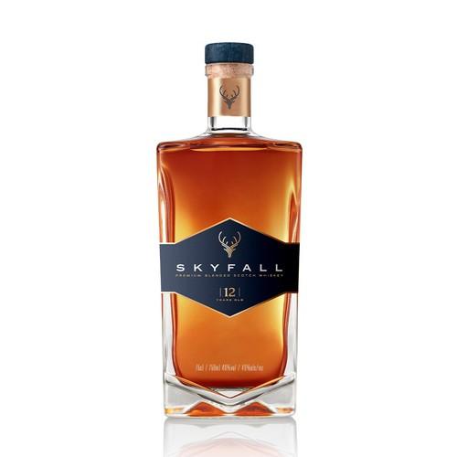 James Bond's Skyfall movie concept whiskey bottle design