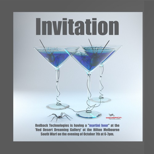 Martini party invitation