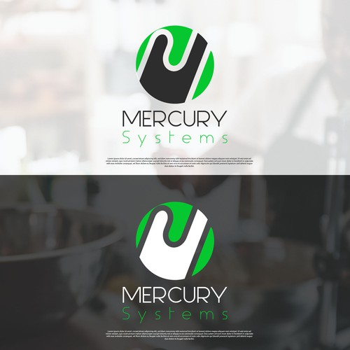 logo concept for mercury Systems.