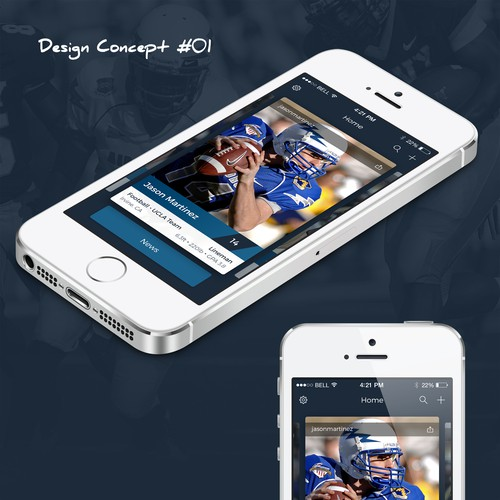 Sport Card app design