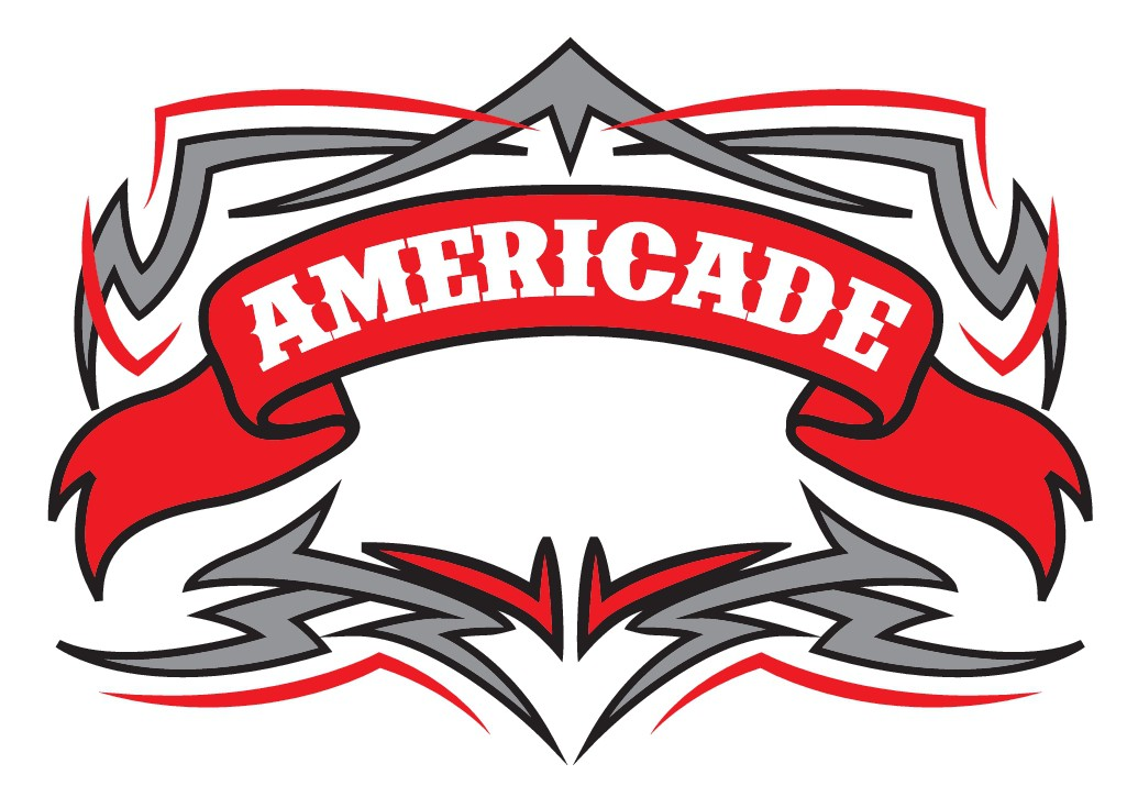 Americade Motorcycle Rally Mens T-shirt Design