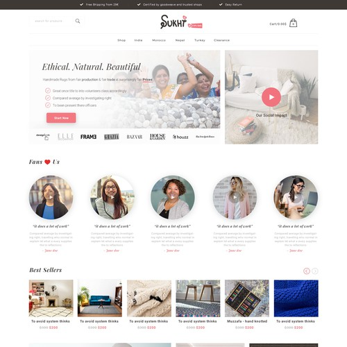 Social enterprise needs new homepage and improvement identity