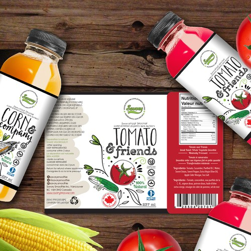 vegies juice label design
