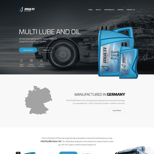 Multi Lube & Oil website design and development