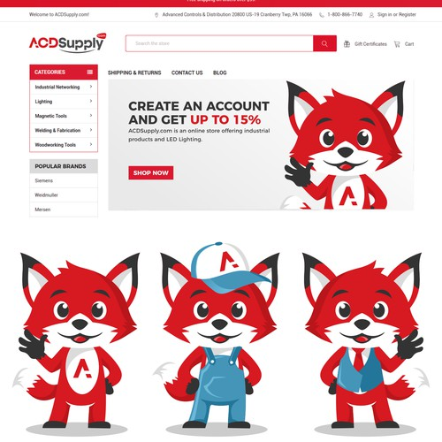 red fox mascot