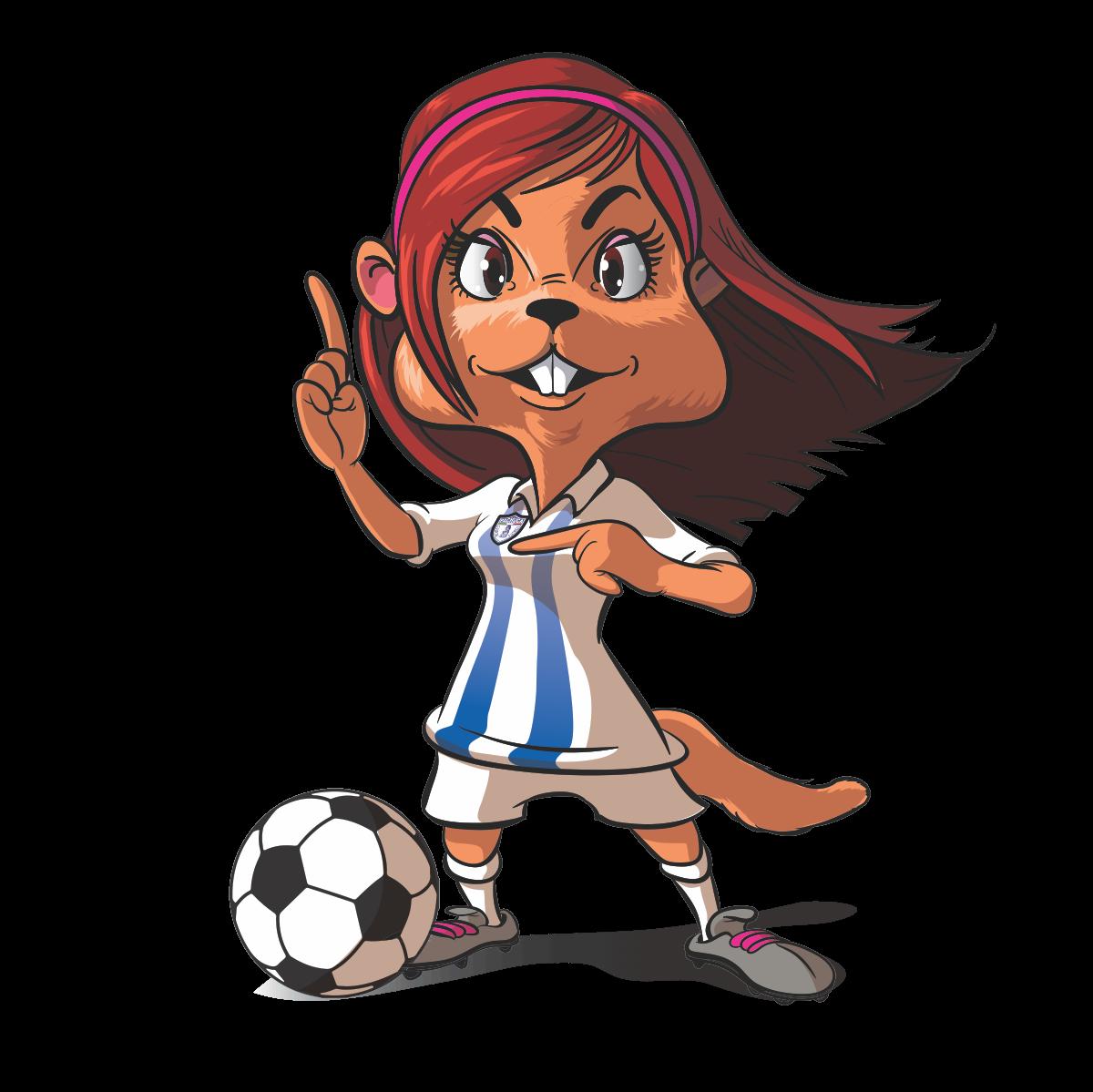 FEMALE MASCOT DESIGN FOR PROFESSIONAL FEMALE FOOTBALL TEAM