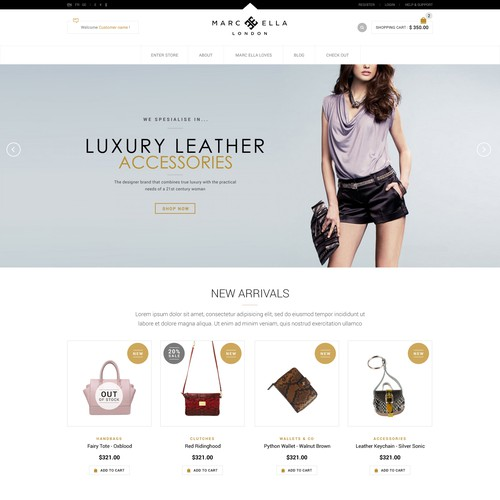 Web Page Design for Marc Ella