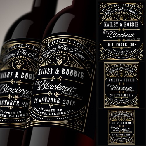 Wine label design for Personal Wine