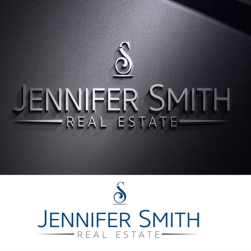 Texted based real estate company logo