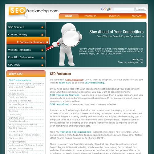 SEOFreelancing.com Redesign Required