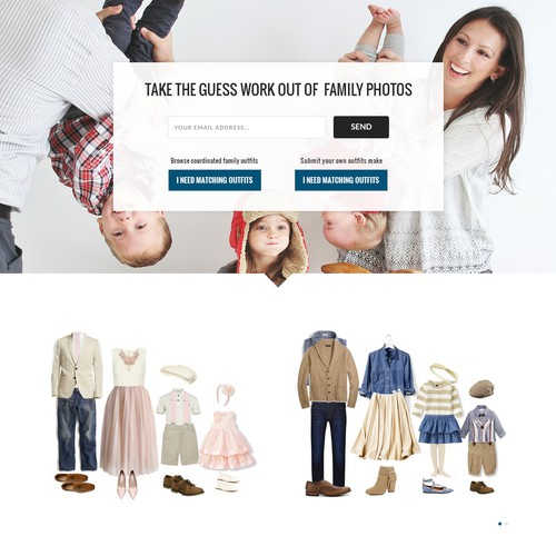 Outfit Findr Landing Page