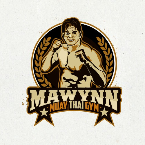 "Logo for ""muay thai gym in thailand academy"""