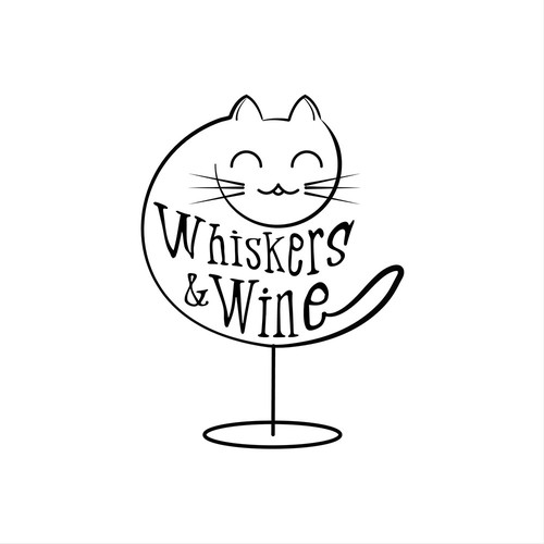 logo for cat lounge and wine bar