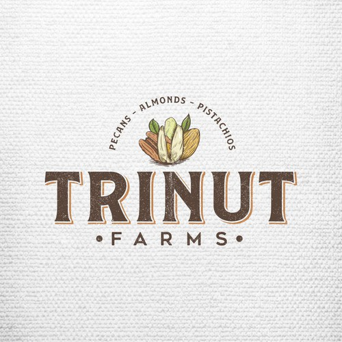 TriNut Farms logo concept