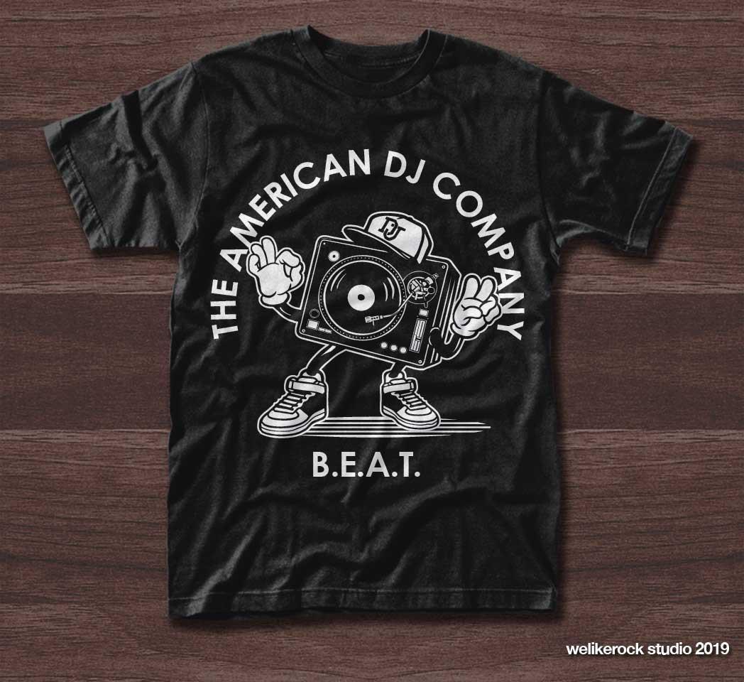 The American DJ Company BEAT Program Student T Shirt Design