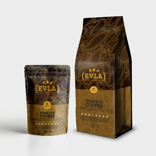 Packaging design concept for EVLA Turkish Coffee