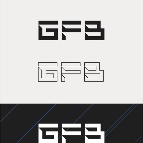 Masculine logo concept for fitness brand