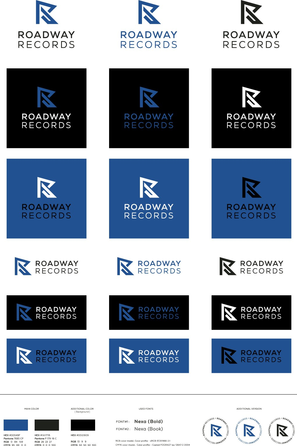 Help make 'records management' great/cool again. Roadway Records needs a logo!