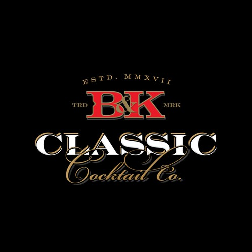 Logo concept for B&K Classic Cocktail Co.