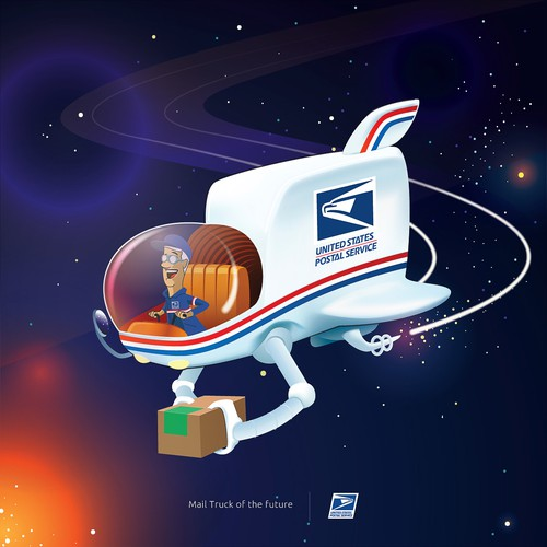 USPS mailman of the future concept
